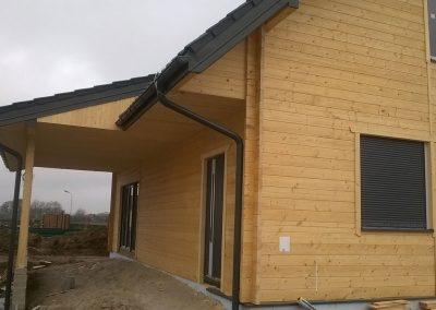 Dom z drewna w okolicach Szprotawy