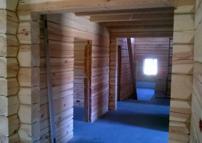 Dom z drewna w okolicach Rabki