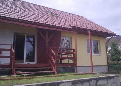 Dom z drewna w okolicach Nysy
