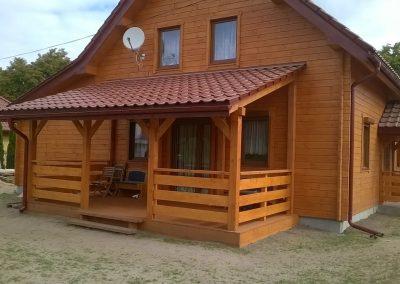 Dom z drewna w okolicach Sulechowa